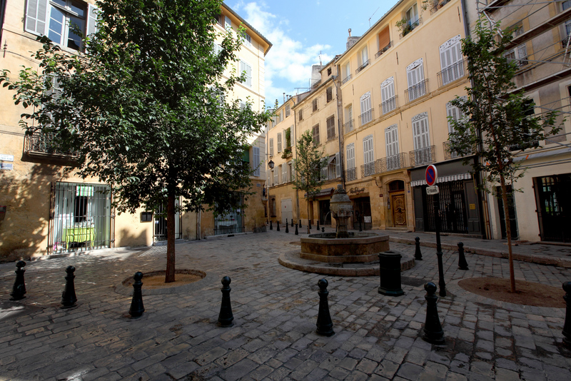 place des trois ormeaux photographies d 39 aix en provence. Black Bedroom Furniture Sets. Home Design Ideas